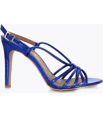 sandalia tacón alto azul perugia 94149na-co