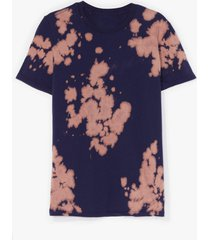 womens feelin' groovy tie dye relaxed tee - navy