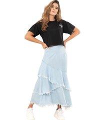 falda boleros azul ragged pf51320041