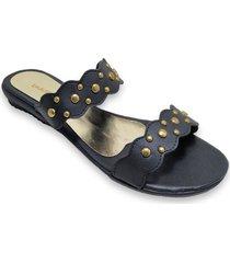sandalia negra ragazzini