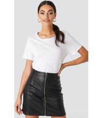hoss x na-kd high waist zipped skirt - black
