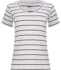 camiseta a rayas color blanco, talla l