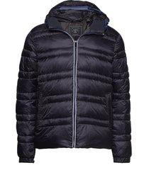 classic hooded down jacket gevoerd jack blauw scotch & soda