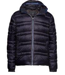 classic hooded down jacket gevoerd jack blauw scotch & soda