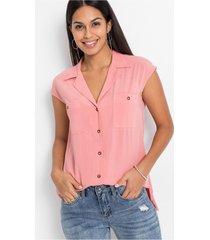 blouse met opgestikte zakken