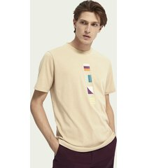 scotch & soda t-shirt met print en korte mouwen
