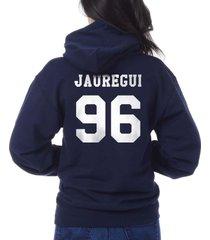 jauregui 96 lauren jauregui on back unisex pullover hoodie navy