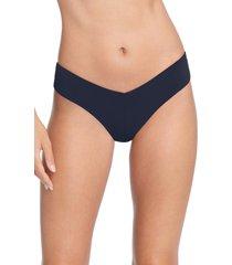 robin piccone ava bikini bottoms, size large in navy at nordstrom