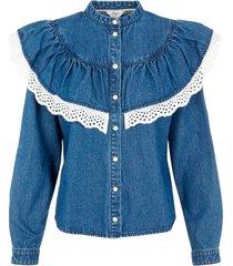 jeansblus objyvonne denim shirt