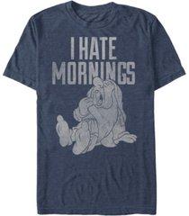 disney men's snow white and the seven dwarfs sleepy i hate mornings, short sleeve t-shirt