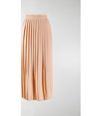 mm6 maison margiela pleated midi skirt