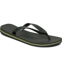 hav kids brazil logo shoes summer shoes flip flops grön havaianas