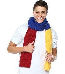 bufanda amarillo-azul-rojo leone