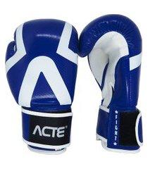 luva de boxe acte premium azul e branca