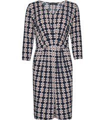 dress short 3/4 sleeve knälång klänning multi/mönstrad betty barclay