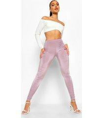 geplooide disco leggings, lilac