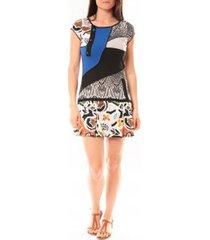 korte jurk bamboo's fashion robe ba1513 bleu