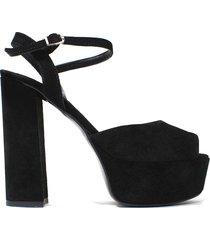 sandalia  negra felmini romina