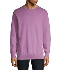 cotton-blend crewneck sweater