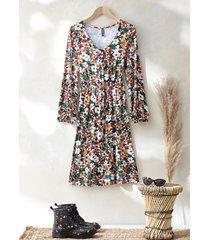 abito  a fiori (nero) - rainbow