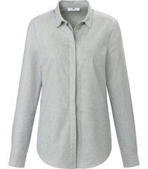 blouse van 100% katoen met lange mouwen van peter hahn grijs