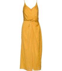 dance dress 11240 knälång klänning gul samsøe samsøe