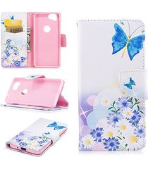 google pixel 2 case,xyx [butterfly love][double sided design] pu leather wallet