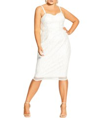plus size women's city chic antonia cocktail dress