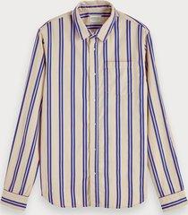 scotch & soda felgestreept overhemd | regular fit