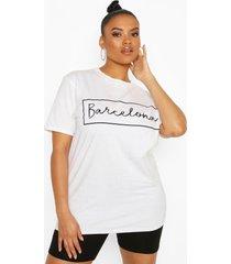 plus 'barcelona' oversized t-shirt, white