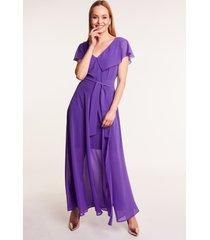 długa sukienka fioletowa