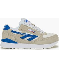 hi-tec silver shadow sneakers white/red/blue