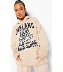 petite oversized oakland hoodie, sand