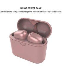 audífonos bluetooth gemelos con caja de carga - oro rosa