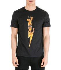 neil barrett flame thunderbolt t-shirt