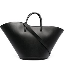 little liffner open tulip medium tote - black