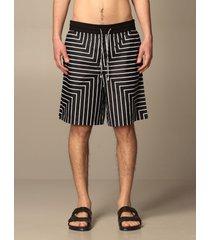 emporio armani short emporio armani bermuda shorts in striped cotton