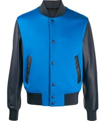 givenchy two-tone varsity jacket - blue