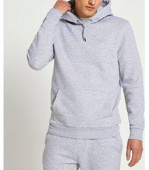 river island mens grey ri branded slim fit hoodie