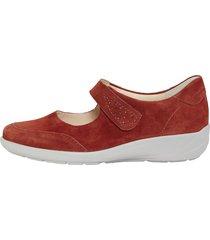 skor med kardborreband semler röd