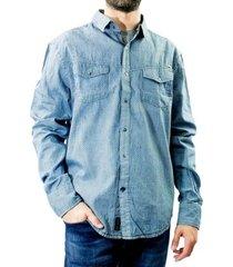 camisa jeans masculina dixie