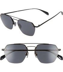 rag & bone 54mm aviator sunglasses in matte black at nordstrom