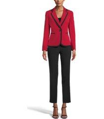 le suit two-tone pants suit