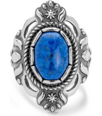 american west classics denim lapis ring in sterling silver