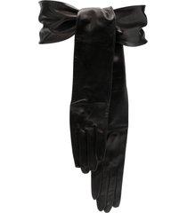 dolce & gabbana glove-detail leather belt - black