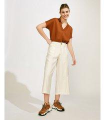 pantalón blanco portsaid cropped saint jordi