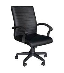 cadeira de escritório diretor giratória seattle preta