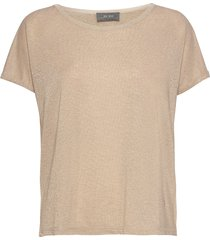 kay tee t-shirts & tops short-sleeved beige mos mosh