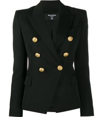 balmain structured decorative button jacket - black