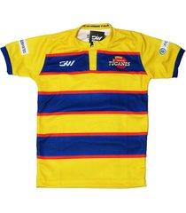 camiseta oficial seleccion colombia de rugby amarilla